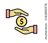 bribe line filled icon | Shutterstock .eps vector #1182800578