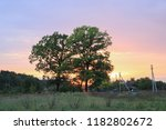 summer landscape with village   Shutterstock . vector #1182802672