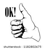 ok hand gesture | Shutterstock .eps vector #1182802675