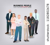 group of business people ... | Shutterstock .eps vector #1182802678
