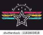 star slogan on lovely star for... | Shutterstock .eps vector #1182803818
