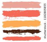 brush strokes set backgrounds.... | Shutterstock .eps vector #1182805855