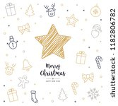christmas card icon elements... | Shutterstock .eps vector #1182806782