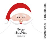santa claus face smile big... | Shutterstock .eps vector #1182806788