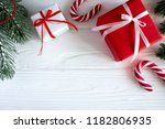 christmas composition with... | Shutterstock . vector #1182806935