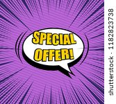 comic sale bright concept with... | Shutterstock .eps vector #1182823738