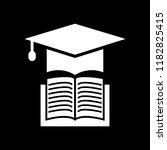 book with vector graduation cap ... | Shutterstock .eps vector #1182825415