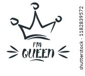 royal crown drawn by hand in... | Shutterstock .eps vector #1182839572