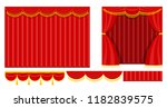 curtains with lambrequins on... | Shutterstock .eps vector #1182839575