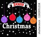 merry christmas.holiday scene... | Shutterstock .eps vector #1182851218