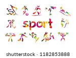 objects colored people play... | Shutterstock .eps vector #1182853888