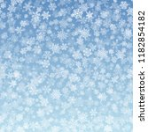 vector snowflakes falling on... | Shutterstock .eps vector #1182854182