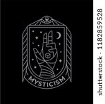 mystic and esoteric symbol.... | Shutterstock .eps vector #1182859528