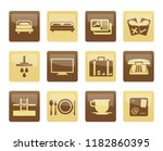 hotel and motel icons over... | Shutterstock .eps vector #1182860395