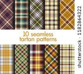 set of seamless tartan patterns | Shutterstock .eps vector #1182864322