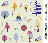 seamless natural ornament... | Shutterstock .eps vector #1182870232