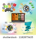 infographic vector elements for ... | Shutterstock .eps vector #1182875635
