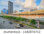 bangkok thailand   traffic and... | Shutterstock . vector #1182876712