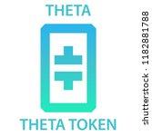 theta token coin cryptocurrency ... | Shutterstock . vector #1182881788