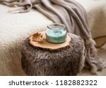 winter cozy home interior... | Shutterstock . vector #1182882322