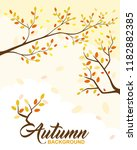 vector illustration autumn... | Shutterstock .eps vector #1182882385