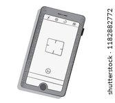 telephone gray and white vector ...   Shutterstock .eps vector #1182882772
