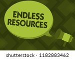 writing note showing endless... | Shutterstock . vector #1182883462