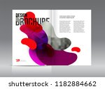 magazine template with two... | Shutterstock .eps vector #1182884662