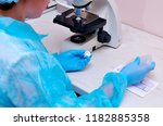 microscope. microbiological... | Shutterstock . vector #1182885358