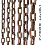 Rusty Metal Chains On White...