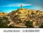 matera ancient town i sassi ... | Shutterstock . vector #1182886585