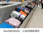 suitcase or luggage with... | Shutterstock . vector #1182888382
