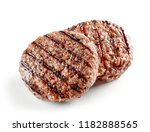 grilled burger meat isolated on ... | Shutterstock . vector #1182888565