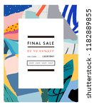 creative sale header or banner... | Shutterstock .eps vector #1182889855
