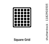 square grid icon vector...