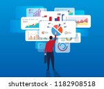businessman analyzes page data | Shutterstock .eps vector #1182908518