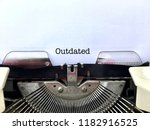 outdated  word title heading... | Shutterstock . vector #1182916525
