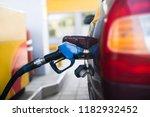 fuel gasoline car in gas station | Shutterstock . vector #1182932452