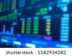 blur stock market graph... | Shutterstock . vector #1182934282