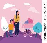 family at park | Shutterstock .eps vector #1182938515