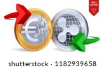 ripple to euro currency...   Shutterstock .eps vector #1182939658