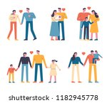 forms of family members of... | Shutterstock .eps vector #1182945778