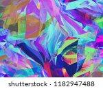 hippie psychedelic brush stroke ... | Shutterstock . vector #1182947488
