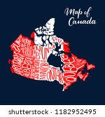 canadian map with province and... | Shutterstock .eps vector #1182952495