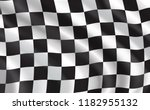 racing flag waving in the wind  ... | Shutterstock .eps vector #1182955132