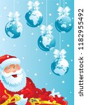 merry christmas greeting card.... | Shutterstock .eps vector #1182955492