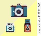 old camera vector  eps 10 | Shutterstock .eps vector #1182961345