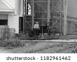 amish youth standing by a buggy ...   Shutterstock . vector #1182961462