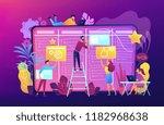 kanban board concept vector... | Shutterstock .eps vector #1182968638