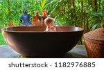 happy baby son have fun in... | Shutterstock . vector #1182976885